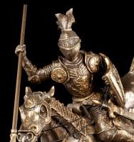 Ritter Figur - Auf Pferd mit Speer