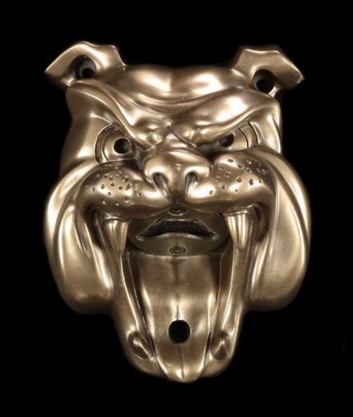 Flaschenöffner - Bulldogge - bronziert