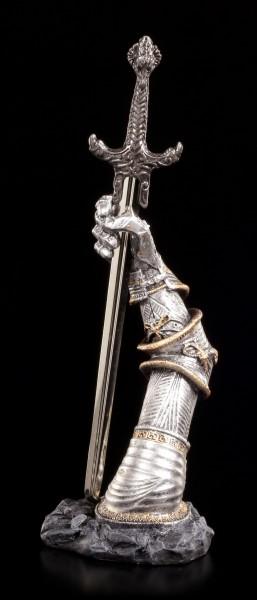 Brieföffner - Ritterhand mit Schwert