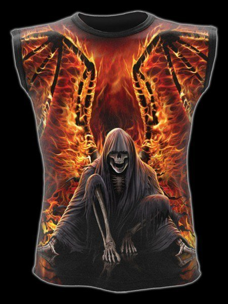 Ärmelloses Shirt Fantasy - Todesengel Flaming Death
