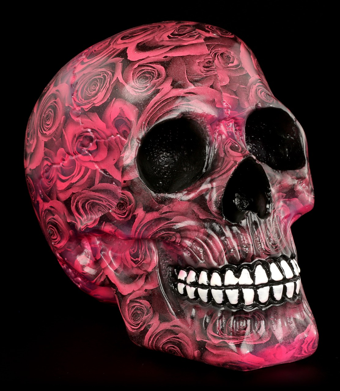 Colourfull Skull with Roses - Romance