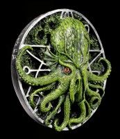 Cthulhu Wall Plaque with Pentagram