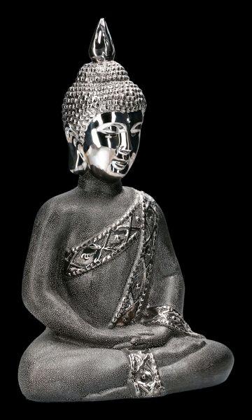 Buddha Figurine black-silver colored