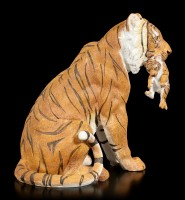 Garden Figurine - Tiger with Puppy in Mouth