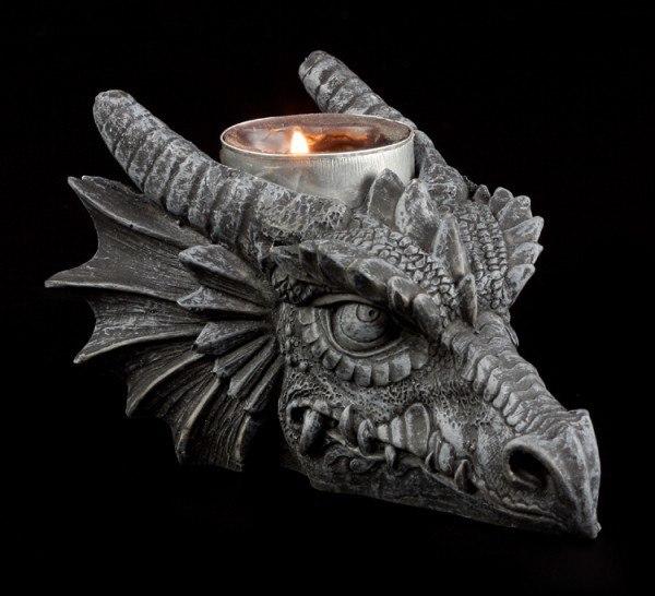 Drachenkerzenhalter - Drachenkopf
