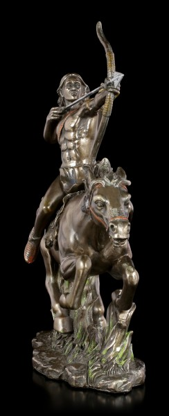 Native Indian Figurine - Warrior on Horse with Bow and Arrow