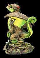 Dragon Figurine - Avocado by Stanley Morrison