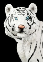 Weiße Tiger Figur - Sitzend auf dem Boden