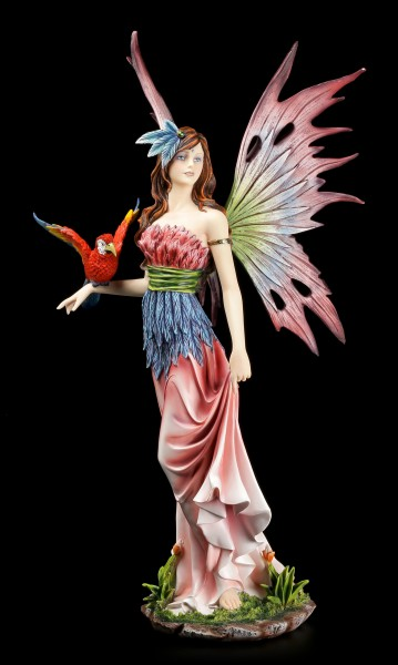Jungle Fairy Figurine with Parrot