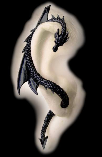 Alchemy Gothic Earring- The Dragon's Lure - limited