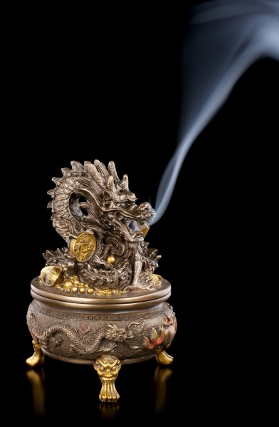 Incense Cone Holder - Asian Dragon of Fortune