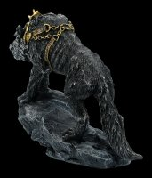 Germanic Fenris Wolf Figurine in Chains
