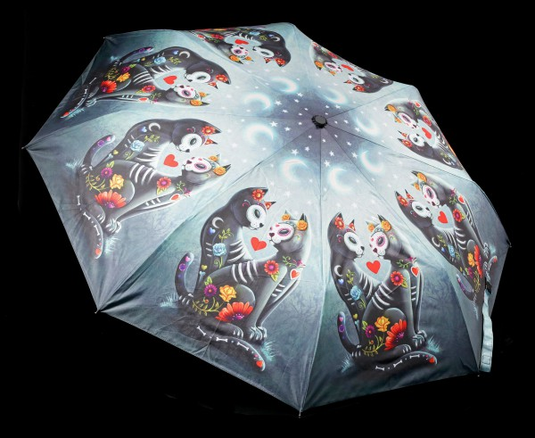 Umbrella with Cats - Starry Night