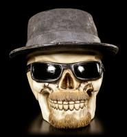 Totenkopf mit Hut und Sonnenbrille - Badass groß