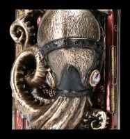Buchstütze - Steampunk Krake