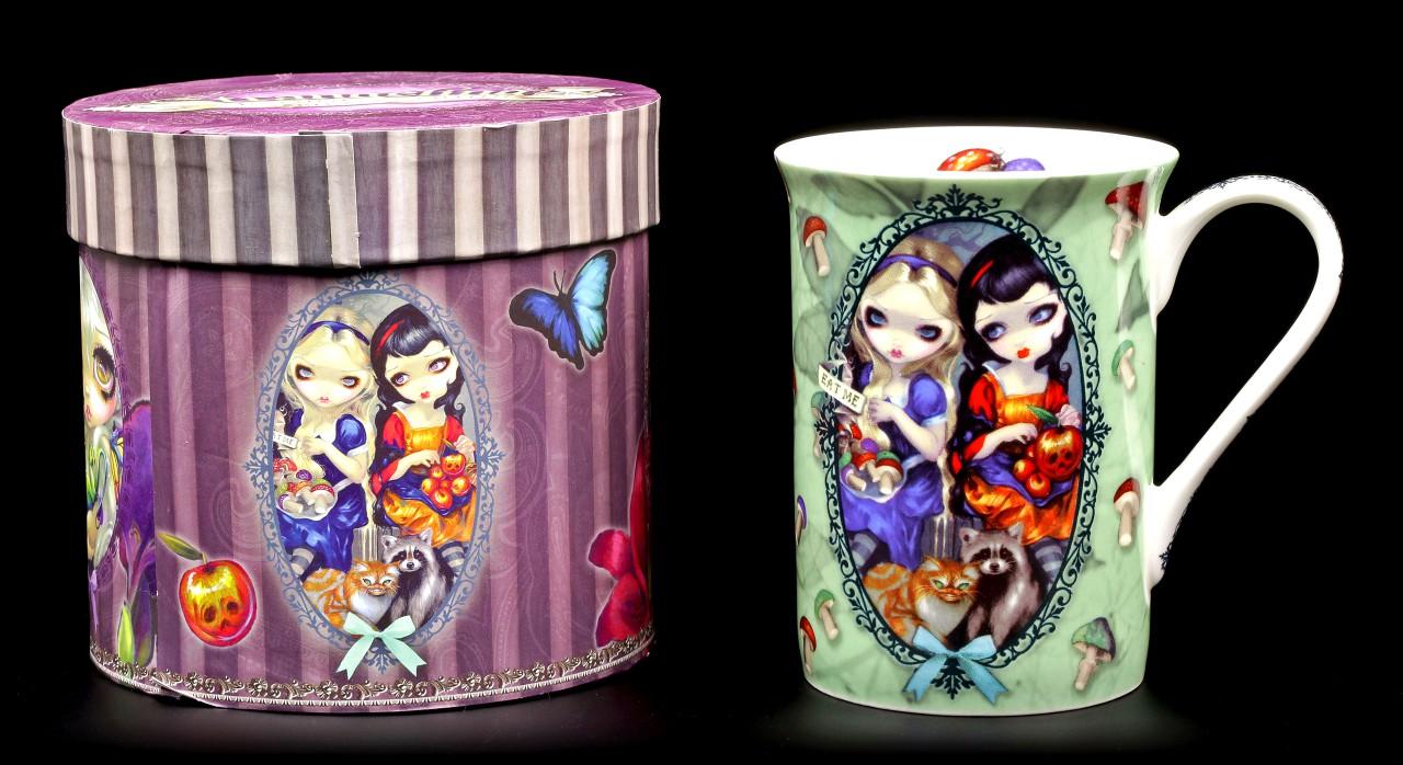 Elfen Porzellan Tasse - Alice & Snow White