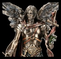 Erzengel Gabriel Figur mit Stab und Trompete