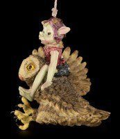 Pixie Figurine - With Owl aiming high