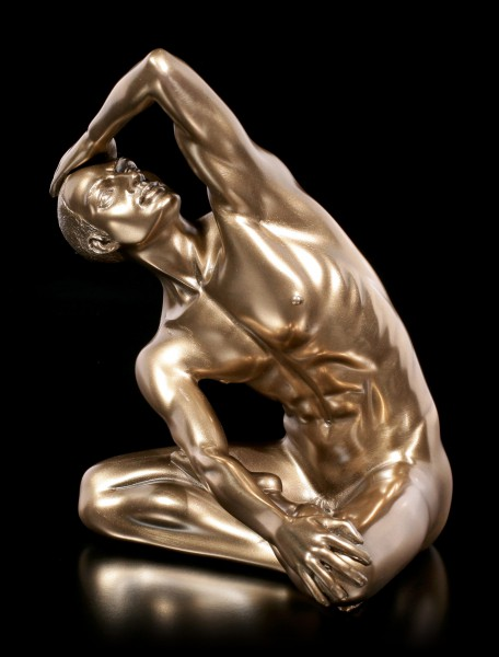 Male Nude Figurine - Hand on his Head