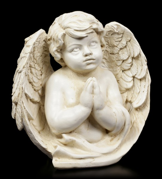 Engel Figur - Cherub im Gebet vertieft