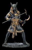 Seth Figur als Krieger bemalt