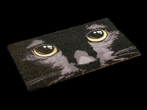 Fantasy Doormat - Black Cat