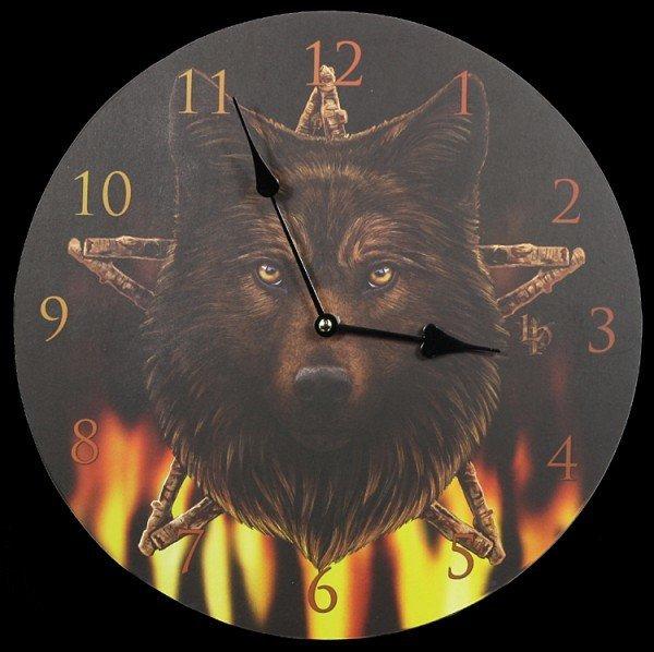 Wolf Wanduhr - Wild Fire