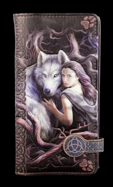 Geldbörse mit Wolf - Soul Bond - geprägt