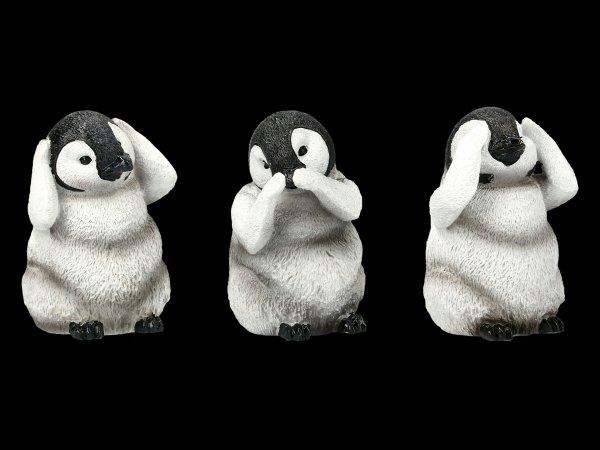 Three Wise Pinguine Figurines - No Evil