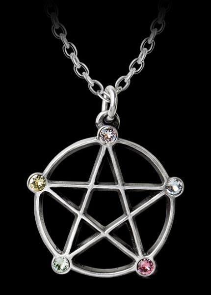 Alchemy Necklace - Wiccan Elemental Pentacle