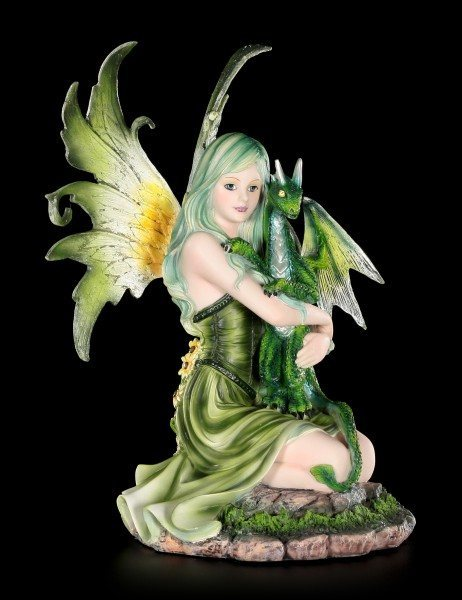 Fairy Figurine - Fanaion with Dragon Boy in Spring Time