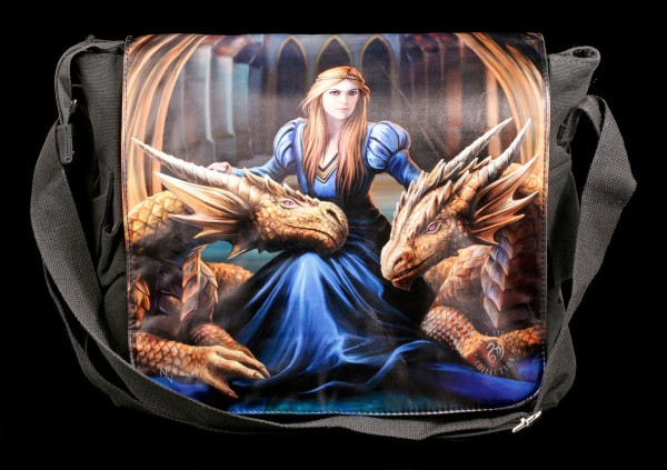 Messenger Bag with Dragons - Fierce Loyalty