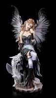 Elfen Figur groß - Ruti sitzend mit Drache