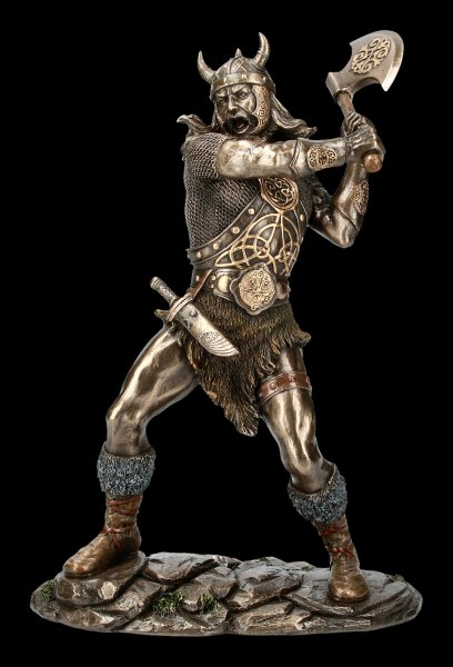Viking Figurine with Ax and Armor