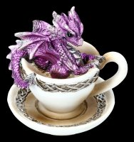 Drache in Tasse Figur - Dracuccino - lila