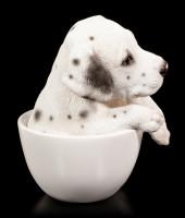 Dog Figurine - Dalmatian Teacup Pup
