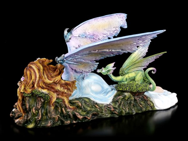 Fairy Figurine - Shila with green Dragon