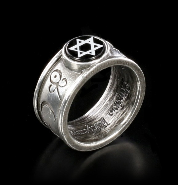 Alchemy Pentagramm Ring - Principia Alchemystica
