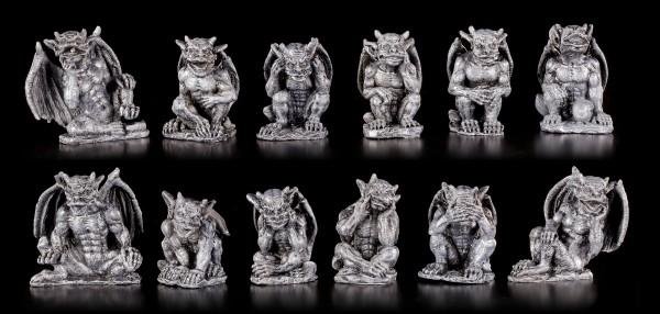 Kleine Gargoyle Figuren - 12er Set