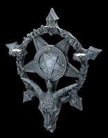 Wall Plaque Tealightholder - Baphomet Pentagram