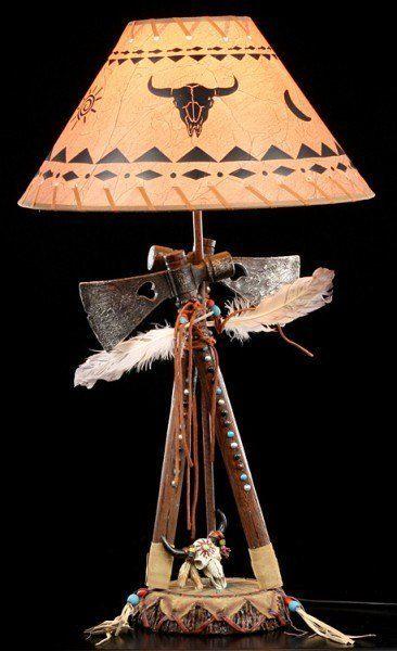 Wilder Westen Lampe - Zwei Tomahawks