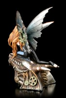 Steampunk Elfen Figur - Talaria auf Drachenkopf