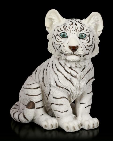 Weiße Tiger Figur - Baby sitzend