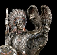 Indianer Figur - Häuptling mit Adler