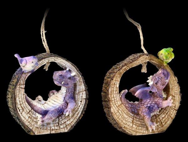 Cute Dragon Figurines - Hello little Friend - purple