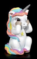 Three Wise Unicorns Figurines - No Evil