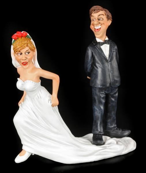 Hiergeblieben - Lustige Brautpaar Figur