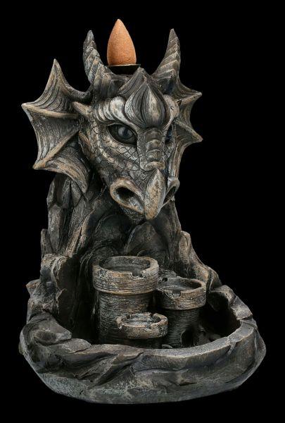 Backflow Incense Burner - Dragon Hill