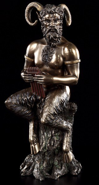 Horned God Pan Figurine
