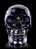 Dunkelblauer Totenkopf mit beweglichem Unterkiefer